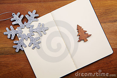 Blank Book With Snowflake