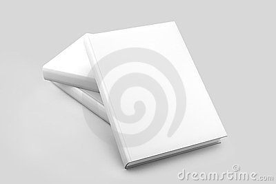 Blank books cover white isolated