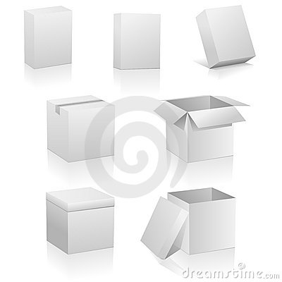 Free Blank Boxes Royalty Free Stock Images - 10171539