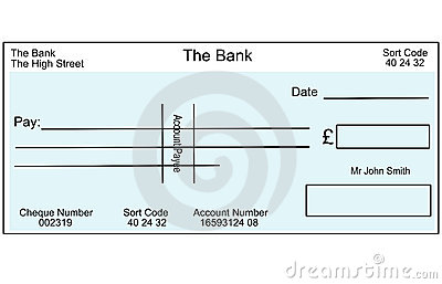 Blank British Cheque Stock Photos Image 2341693