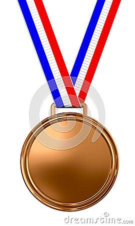 Blank bronze medal