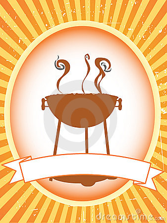 Free Blank Brown Bbq Product Label Stock Photography - 12550792
