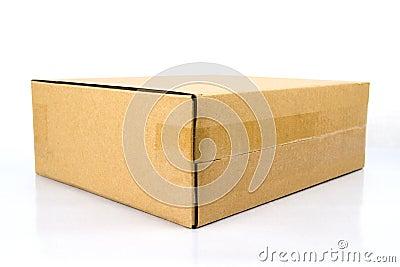 Blank brown box.