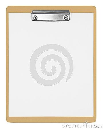 Blank Brown clipboard