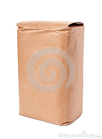 Free Blank Brown Craft Paper Bag Stock Photography - 80078392