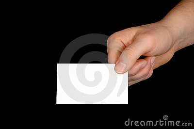 Blank Business Card  (with clipping path)