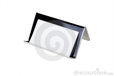Blank Business Card and Holder