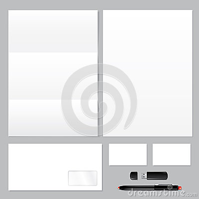 Blank business corporate identity template