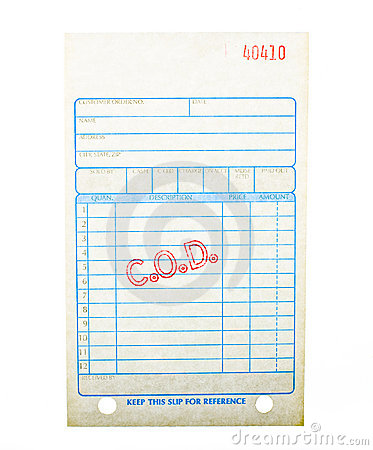 Free Blank C.O.D. Invoice Stock Photo - 15313770