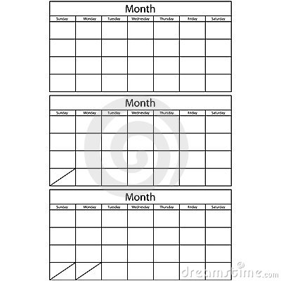 Blank Calendar 3 Templates Stock Image - Image: 12991401
