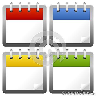 Blank Calendar Icons Set