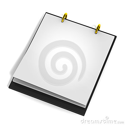 Blank calender pad