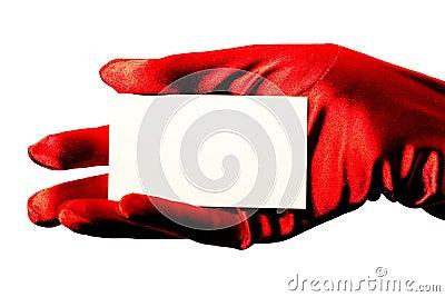 Blank Card & Red Glove
