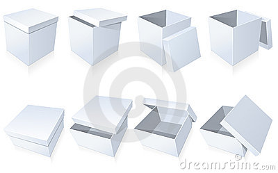 Blank Cardboard Boxes Royalty Free Stock Images - Image: 17576869