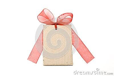 Blank cardboard gift tag