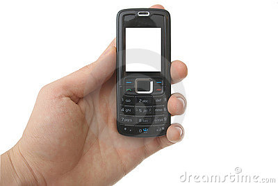 Blank cell phone with clipping paths