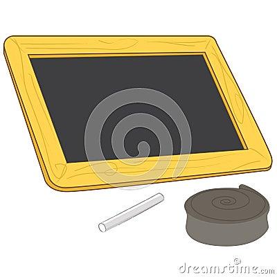 Blank chalkboard vector