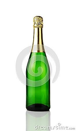 Blank champagne bottle