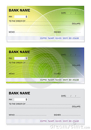 Free Blank Check Royalty Free Stock Photo - 12099425
