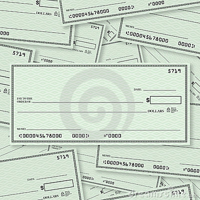 Free Blank Check Pile Background Open Space For Text Stock Photos - 23724023