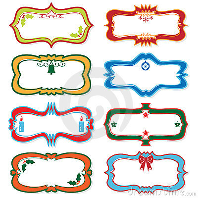 Blank christmas labels