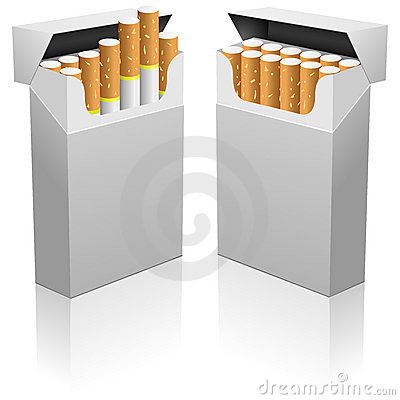 Blank cigarettes pack