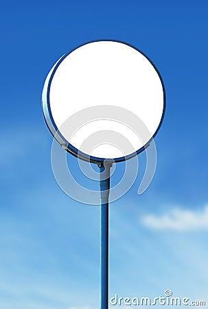 Free Blank Circle Sign Board Royalty Free Stock Photo - 24937315
