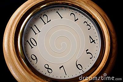 Blank Clock at Angle