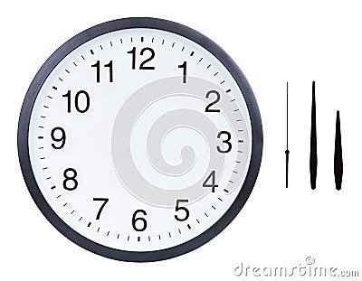 Blank clock face