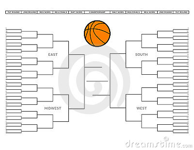Vector illustration of a blank college tournament bracket that can be ...