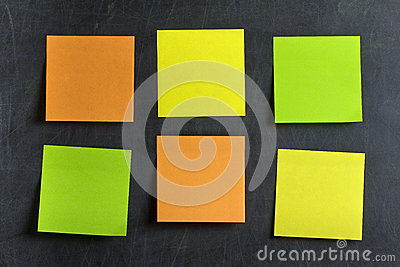 Blank Colored Postits Post-its Blackboard