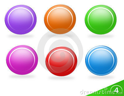 Blank colorful icon set