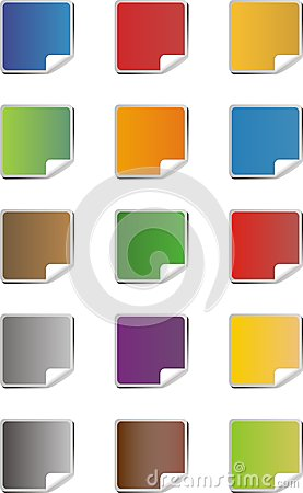 Blank colorful sticker icons