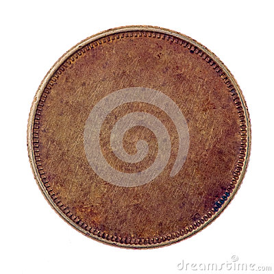 Free Blank Copper Coin Stock Photo - 35461050
