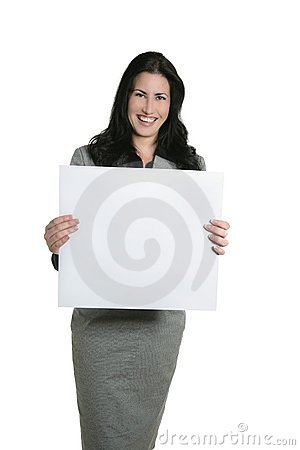 Blank copy space businesswoman copyspace