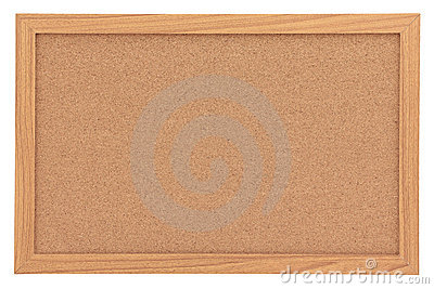 Blank Cork Notice Board Isolated on White