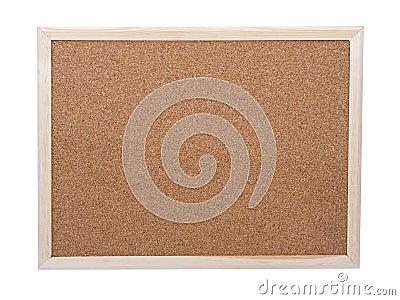 Blank corkboard