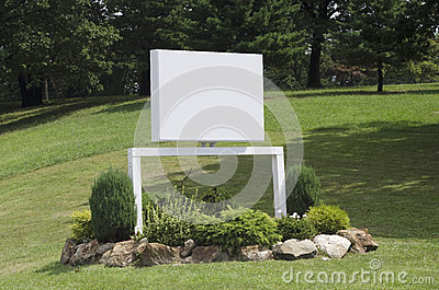 Blank corporate sign
