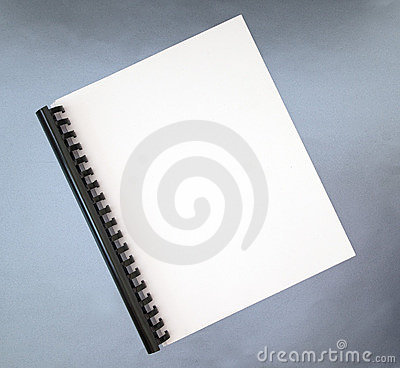 Blank cover of spiral notebook