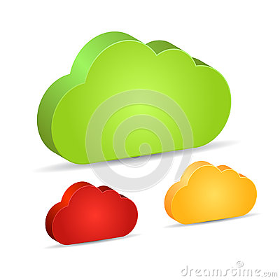 Blank 3d cloud shapes