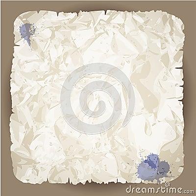 Blank damaged paper