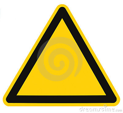 Blank Danger Hazard Triangle Sign Isolated