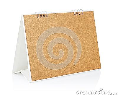 Blank desktop calendar.