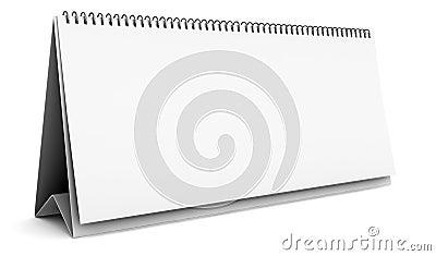Blank desktop calendar isolated on white
