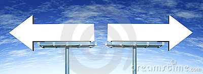 Blank Directional Options signs