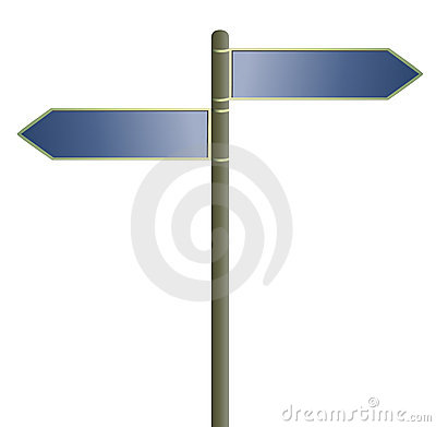 Blank directional signs