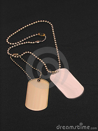 Blank Dog Tags over black