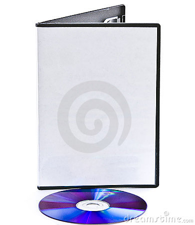 Blank DVD case and laying down disc