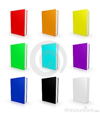 Blank empty cover hardcover book stack collection