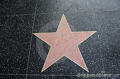Blank empty Hollywood star shape room for text
